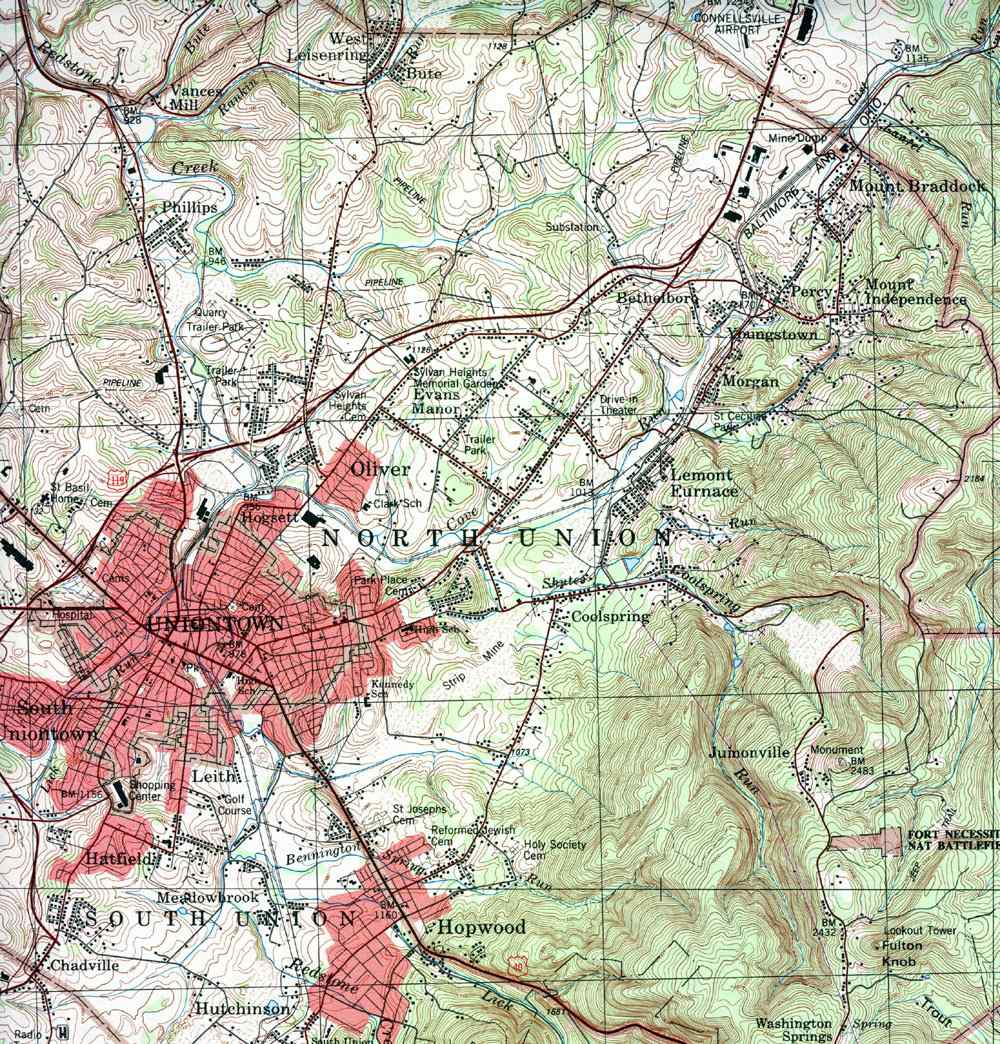 Pagenweb Fayette County Township Maps