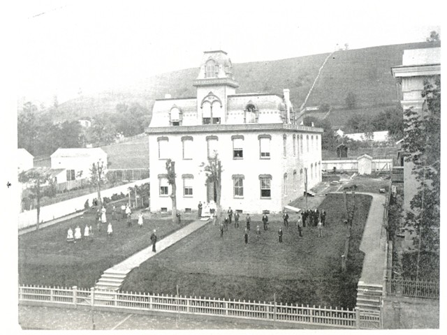 The Academy in 1872, after it was given a complete face lifting. 