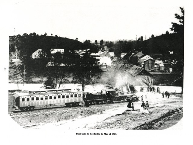 First train to Reedsville in May of 1865.